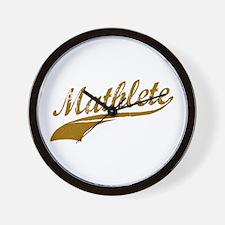 Mathlete (Chocolate) Wall Clock