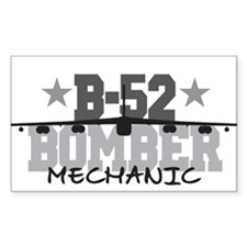 B-52 Aviation Mechanic Rectangle Decal