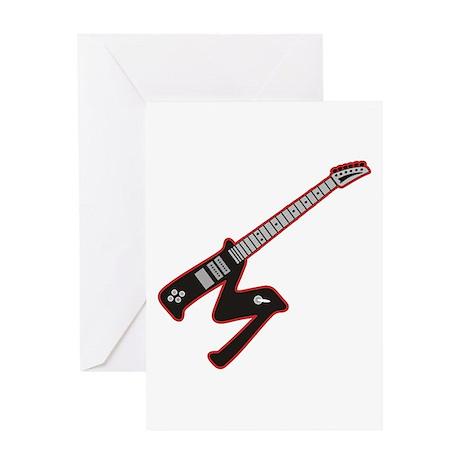 Electric Guitar M Custom initial Greeting Card