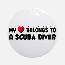 Belongs To A Scuba Diver Ornament (Round)