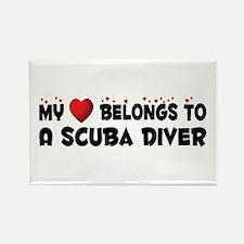 Belongs To A Scuba Diver Rectangle Magnet