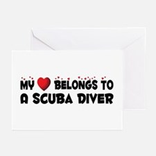 Belongs To A Scuba Diver Greeting Cards (Pk of 20)