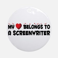 Belongs To A Screenwriter Ornament (Round)