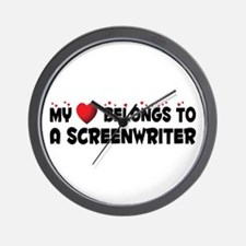 Belongs To A Screenwriter Wall Clock