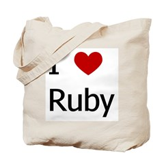 """I Love Ruby"" Tote Bag"