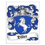 Diller Family Crest Small Poster