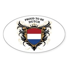 Proud to be Dutch Oval Decal