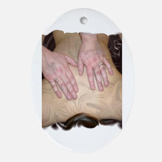 Massage Waves Oval Ornament