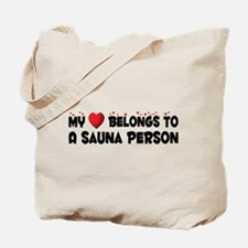 Belongs To A Sauna Person Tote Bag
