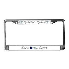 Rose/Cuffs License Plate Frame