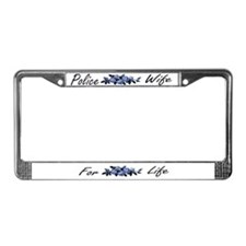 Funny Policewives License Plate Frame