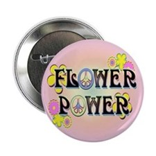 "Flower Power 2.25"" Button"