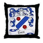Dorn Family Crest Throw Pillow