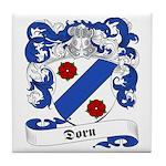Dorn Family Crest Tile Coaster