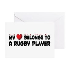 Belongs To A Rugby Player Greeting Card