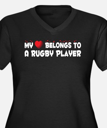 Belongs To A Rugby Player Women's Plus Size V-Neck