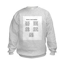 Capitals Of The United States-Sweatshirt