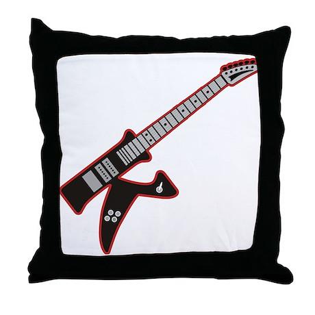 Electric Guitar K Custom Initial Throw Pillow