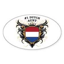 Number One Dutch Aunt Oval Stickers