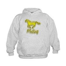 Galloping Yellow Mustang Hoodie