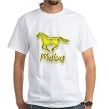 Galloping Yellow Mustang Shirt