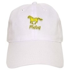 Galloping Yellow Mustang Baseball Cap