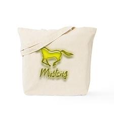 Galloping Yellow Mustang Tote Bag