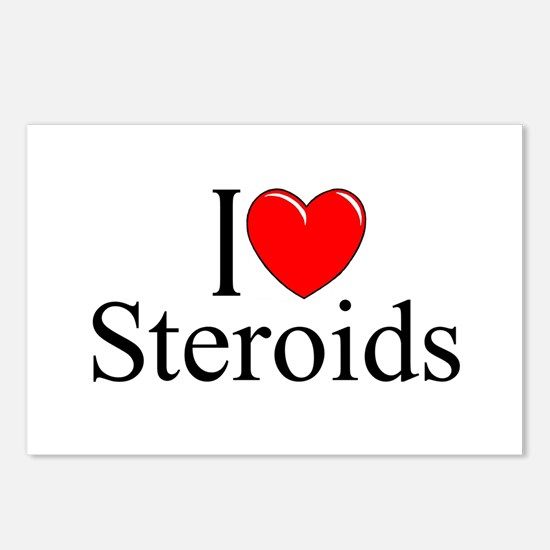 """""""I Love (Heart) Steroids"""" Postcards (Package of 8)"""