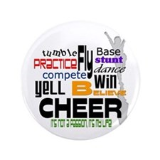 "Cheer Words 2 3.5"" Button"