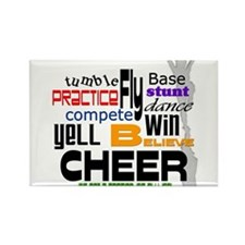 Cheer Words 2 Rectangle Magnet