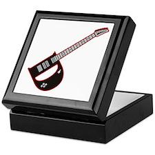 Elecdtric Guitar D Custom initial Keepsake Box