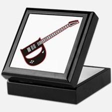 Elecdtric Guitar D Custom initial Keepsake Box