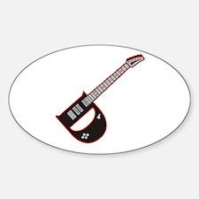 Elecdtric Guitar D Custom initial Oval Decal