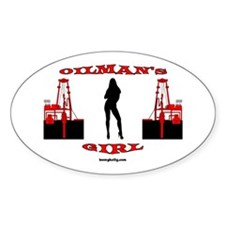 Oilman's Girl Oval Decal