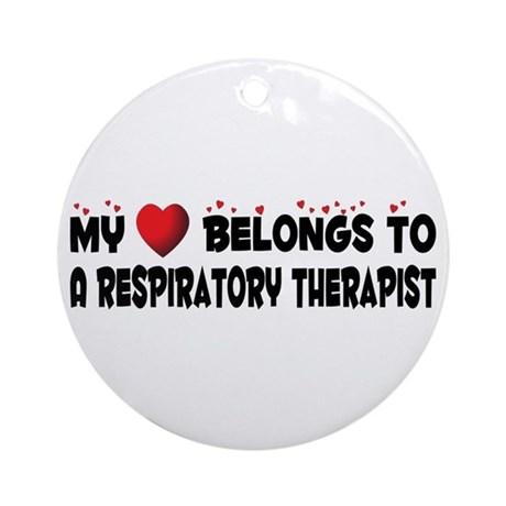 Belongs To A Respiratory Therapist Ornament (Round