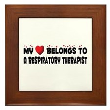 Belongs To A Respiratory Therapist Framed Tile