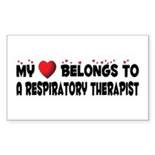 Belongs To A Respiratory Therapist Decal