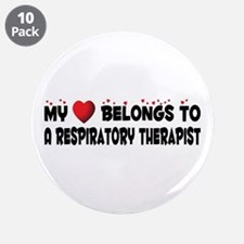 """Belongs To A Respiratory Therapist 3.5"""" Butto"""