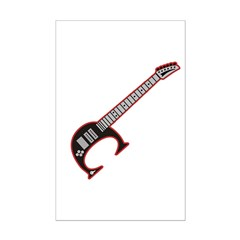 Electric guitar C Custom initial Posters