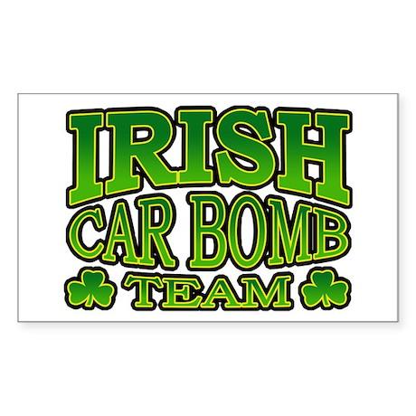 Irish Car Bomb Team Shamrock Rectangle Sticker