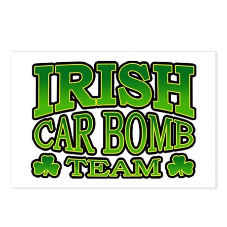 Irish Car Bomb Team Shamrock Postcards (Package of