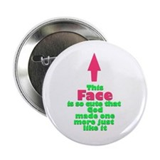 "Twin Face So Cute 2.25"" Button"