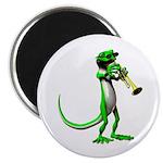 Blues Trumpet Gecko Magnet