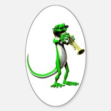 Blues Trumpet Gecko Sticker (Oval)