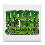 Irish Car Bomb Champion Shamrock Tile Coaster