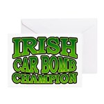 Irish Car Bomb Champion Shamrock Greeting Cards (P