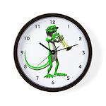 Blues Trumpet Gecko Wall Clock