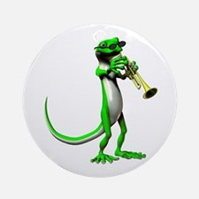 Blues Trumpet Gecko Ornament (Round)