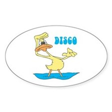 Disco Duck Oval Decal