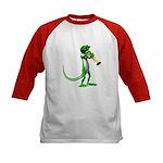 Blues Trumpet Gecko Kids Baseball Jersey